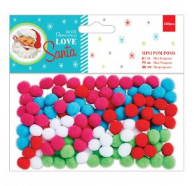 Mini Pompons 'Docrafts - Love Santa' Qté 120