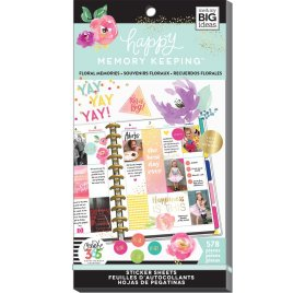 Bloc d'autocollants 'Me & My Big Ideas - Happy Memories Keeping' Floral Memories Qté 578