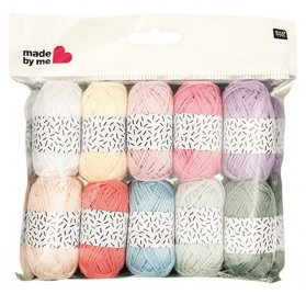Lot de 10 mini pelotes de laine 'Rico Design - Made by Me' Vintage Mix 2
