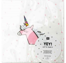20 Serviettes 33x33 'Rico Design - Let's Party' Licorne