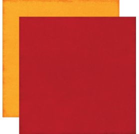 Papier double 30x30 'Echo Park Paper - The Story of Fall' Red/Yellow