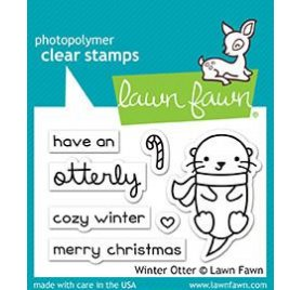 Tampons transparents 'Lawn Fawn' Loutre d'hiver