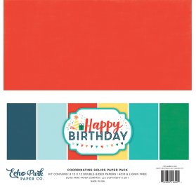 Assortiment 30x30 'Echo Park Paper - Happy Birthday Boy' Qté 6