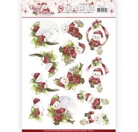Découpage 'Precious Marieke - Joyful Christmas' Push Out 3D