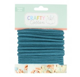 Fil tricotin Honey 'Artemio - Crafty Cotton' Bleu Pétrole 5 mm x 5 m