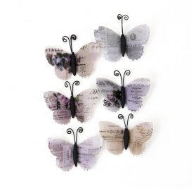 6 Papillons 'Prima - Lavender' Ophelia