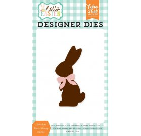 Dies / Matrices de découpe 'Echo Park Paper - hello Easter' Chocolate Easter Bunny