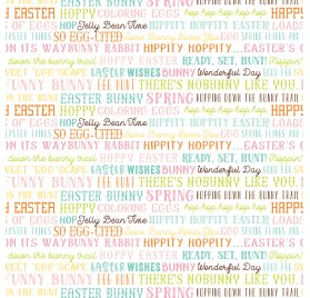 Papier double 30x30 'Echo Park Paper - Hello Easter' Easter Words