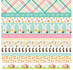 Papier double 30x30 'Echo Park Paper - Hello Easter' Border Strips