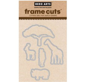 5 Dies/Matrices de découpe 'Hero Arts' Safari Wild About You Frame Cuts