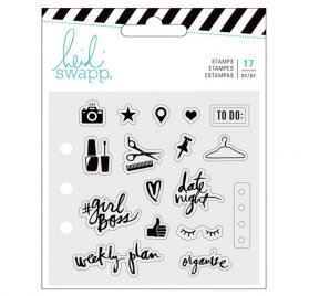 17 Tampons transparents 'Heidi Swapp - Memory Planner' Fresh Start Everyday
