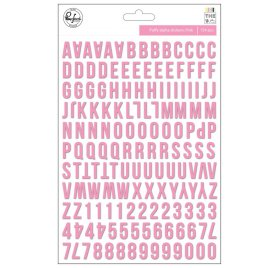Lot de 154 autocollants Puffy 'Pinkfresh Studio - The Mix' Alphabets et Chiffres