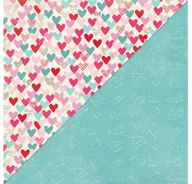 Papier double 30x30 'Authentique - Lovestruck' Lovestruck Two