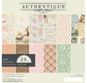 Assortiment de 24 papiers 15x15 'Authentique - Jubilee' Bundle