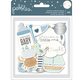 40 Die-cuts 'Pebbles - Night Night' Bébé Garçon