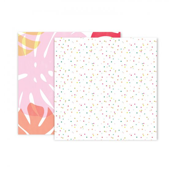 Papier double 30x30 'Pink Paislee - Confetti Wishes' 03