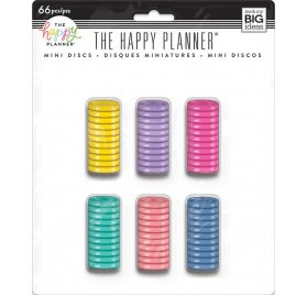 66 Petits disques 'Me & My Big Ideas - The Happy Planner' Colorés