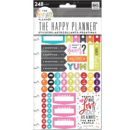 248 Autocollants 'Me & My Big Ideas - The Happy Planner' What's For Dinner