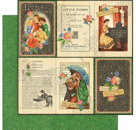 Papier double 30x30 'Graphic 45 - Little Women' Literary Lessons
