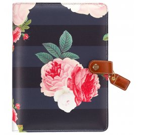 Organiseur A5 Personal Planner 'Webster's Pages - Color Crush' Black Floral  (vide)