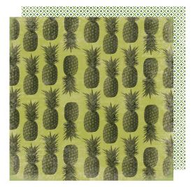 Papier double 30x30 'Heidi Swapp - Pineapple Crush' Pina Colada