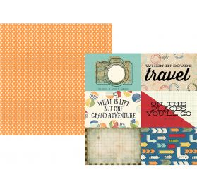 Papier double 30x30 'Simple Stories - Travel Notes' 4x6 Horizontal Elements