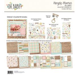 Kit 30x30 'Simple Stories - Oh, Baby!' Collector's Essential 188 Pièces