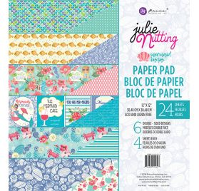 Assortiment de 24 papiers 30x30 'Prima - Julie Nutting' Mermaid Kisses