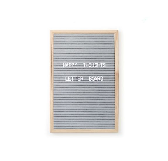 Letter Board' Rayher'  Rectangle gris 30X40 cm avec lettres noires
