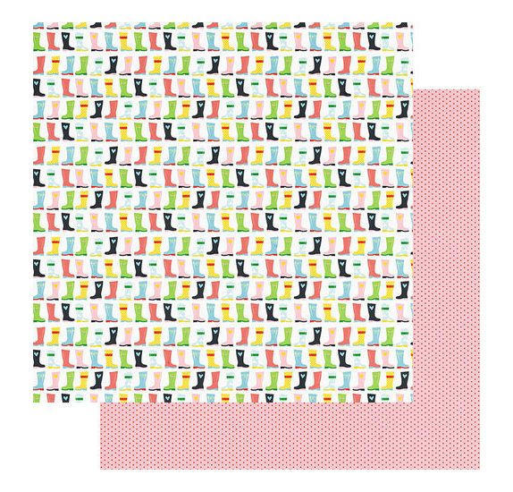 Papier double 30x30 'Fancy Pants - The bright Side' Happy feet