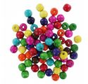 Lot de 200 perles en bois 'La Fourmi' Multicolores 14x13 mm
