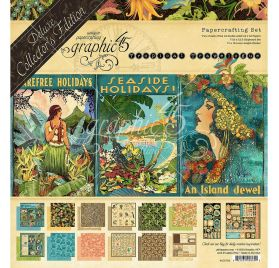 Kit 30x30 'Graphic 45 - Tropical Travelogue' Edition de luxe