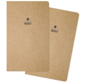 Lot de 2 carnets 'Simple Stories - Carpe Diem' Calendrier hebdomadaire non daté
