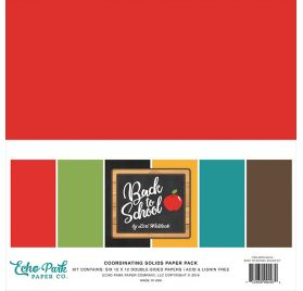 Assortiment de 6 papiers 30x30 'Echo Park Paper - Back to School'