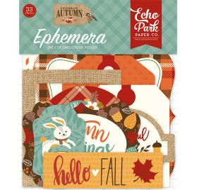 33 Die-cuts 'Echo Park Paper - Celebrate Autumn' Ephemera