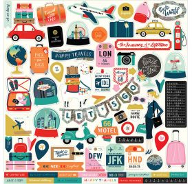 Autocollants 30x30 'Carta Bella -  Pack your bags'