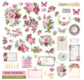 73 Die-cuts et autocollants 'Prima - Misty Rose'