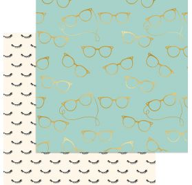 Papier cardstock 30x30 'My Mind's Eye - Gal Meets Glam' Girls in Glasses