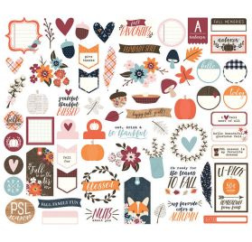 30 Chipboards  autocollants 'Simple Stories - Forever Fall'