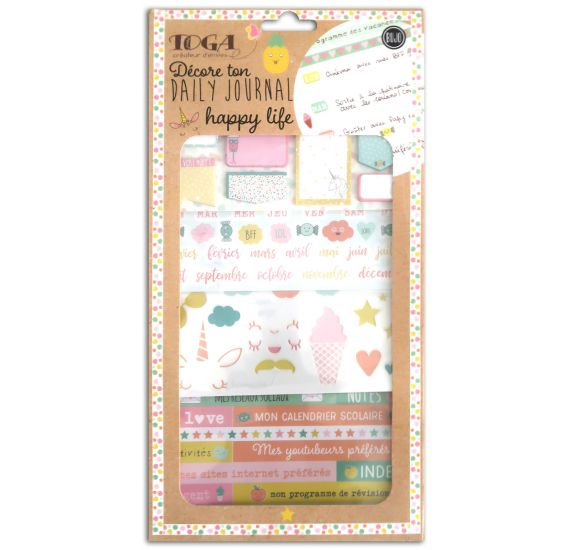 Kit décore ton Daily Journal 'Toga' Happy Life