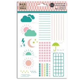 2 Pochoirs 'Toga' Mise en page Trackers  15x20