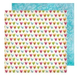 Papier double 30x30 'Vicki Boutin - Field Notes' Happy Hearts