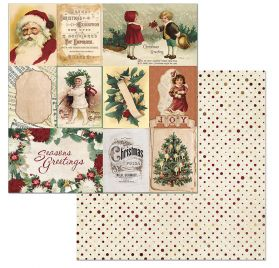 Papier double 30x30 'BoBunny - Yuletide Carol' Kris Kringle