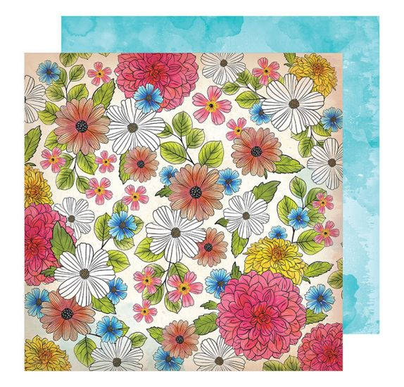 Papier double 30x30 'Vicki Boutin - Field Notes' Among The Wildflowers
