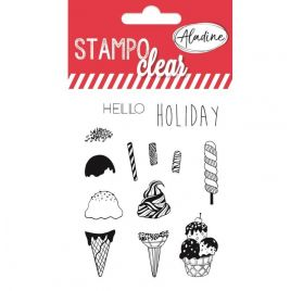 13 Tampons transparents 'Aladine - Stampo Clear' Ice Cream