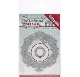 1Die/Matrice de découpe 'Yvonne Creations - Christmas Dreams' Poinsettia Wreath
