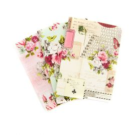 4 Carnets format passeport 'Prima - Traveler's Journal' Misty Rose 9 x12.5 cm
