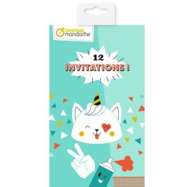 Kit  de 12 cartes d'invitations 'Avenue Mandarine'' Urban Party