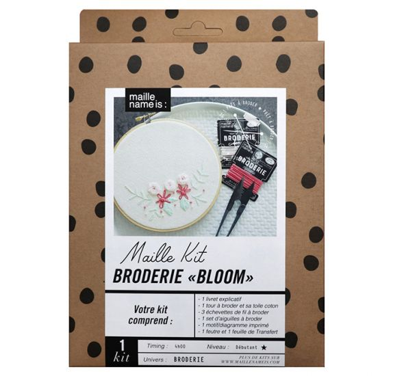 Kit Broderie Bloom 'Kesi'art - Maille name is ''