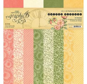 Assortiment de 16 papiers doubles 30x30 'Graphic 45 - Garden Goddess'